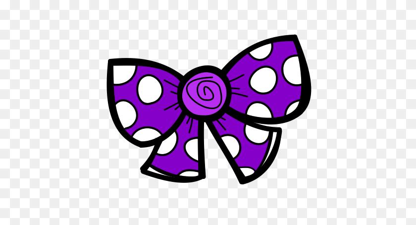 Purple Ribbon Bow Clip Art Borders Corners - Ribbon Bow Clipart