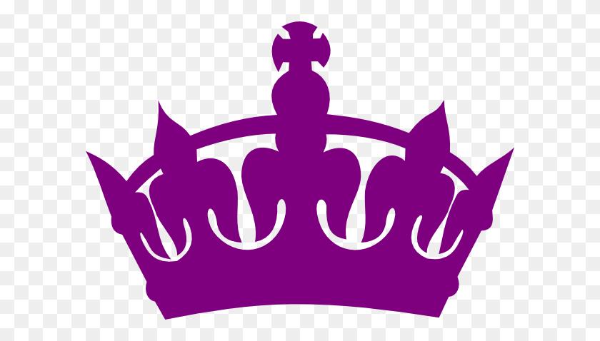 Purple Royal Crown Silhouette Clip Art - Crown Silhouette Clip Art
