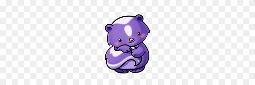 Purple Skunk - Skunk Clipart