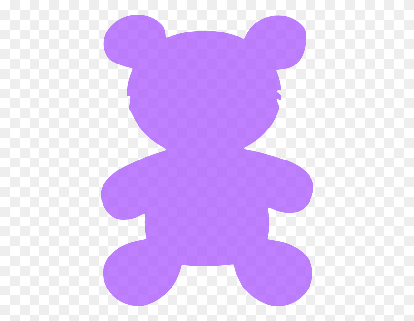 Purple Teddy Bear Clip Art - Teddy Bear Clipart PNG
