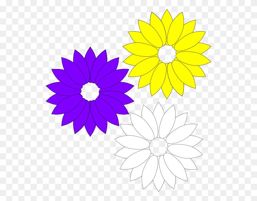Purple Yellow Flowers Yellow Yellow Flowers - Duplex Clipart