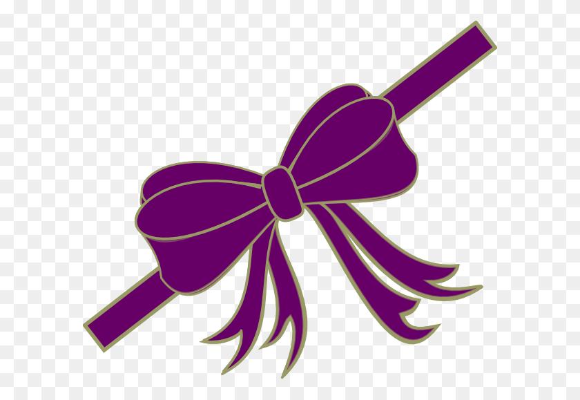 Purpleribbon Clip Art - Purple Ribbon Clipart