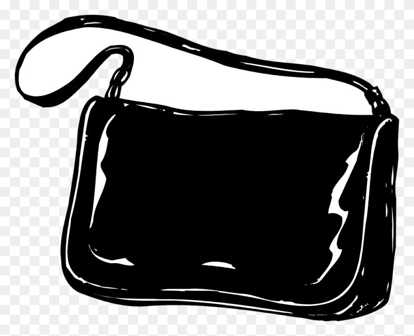 Purse Free Stock Photo Illustration Of A Black Purse Clipart - Free Stock Clipart