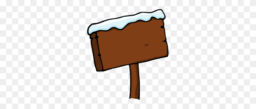 Purzen Snowy Signboard Clip Art - Snowy Mountain Clipart