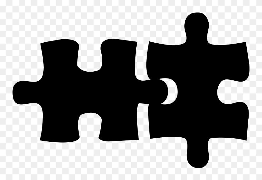 Puzzle Logo Black Clip Art - Team Clipart