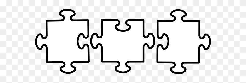 Puzzle Pieces Clip Art Black And White - Pajamas Clipart Black And White