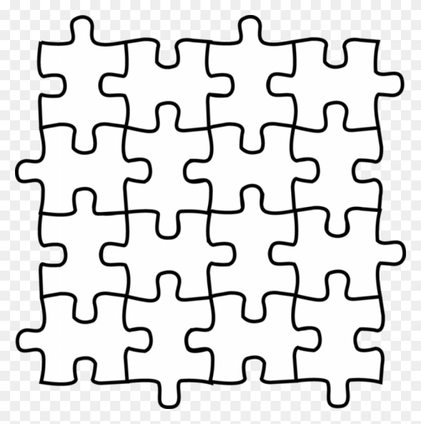 1015x1024 Puzzle Pieces Coloring Pages Free Coloring Library - Free Clipart Puzzle Pieces
