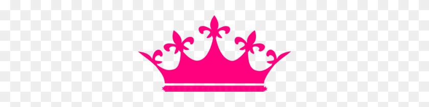 Queen Crown Hot Pink Clip Art - Pink Crown Clipart