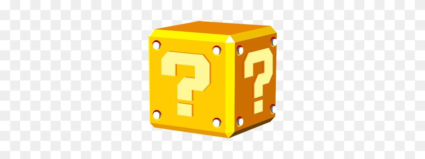 Question Block Icon Super Mario Iconset Sandro Pereira - Mario Coin PNG