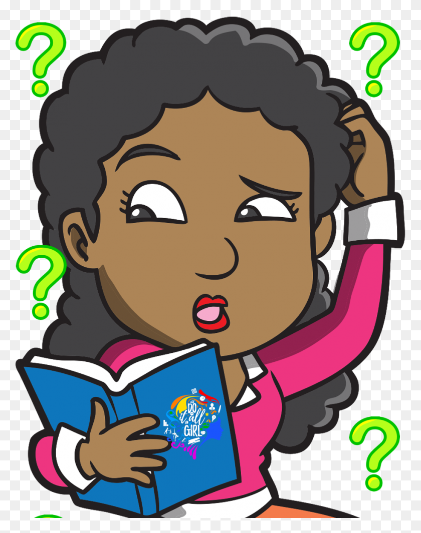 915x1179 Question Mark Clipart Girl - Asking Questions Clipart