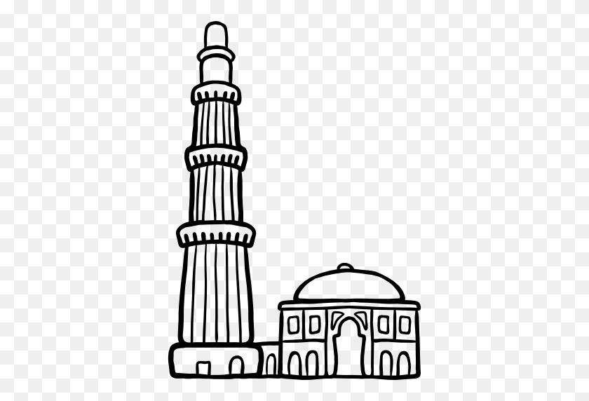 Qutb Minar - Tour Eiffel Clipart