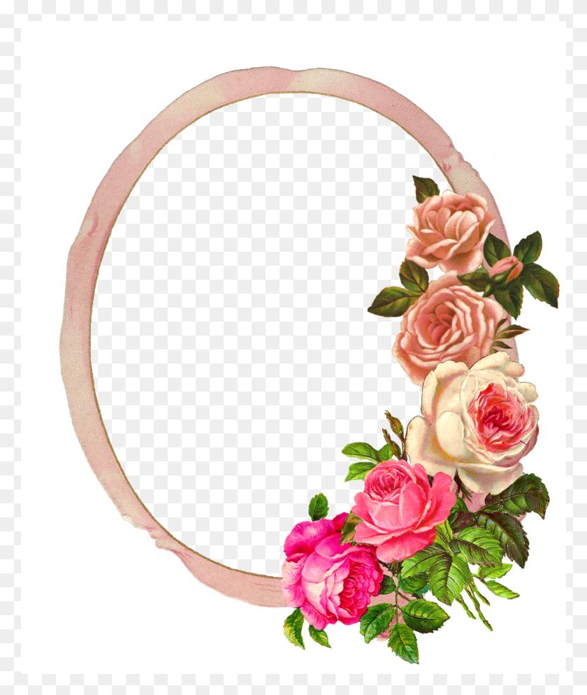 Raamid Flower Frame, Frame - Pink Frame PNG
