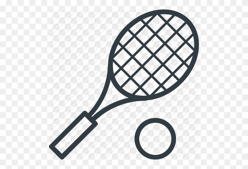 Racket, Sports, Squash Racket, Tennis Ball, Tennis Racket Icon - Tennis Racket PNG