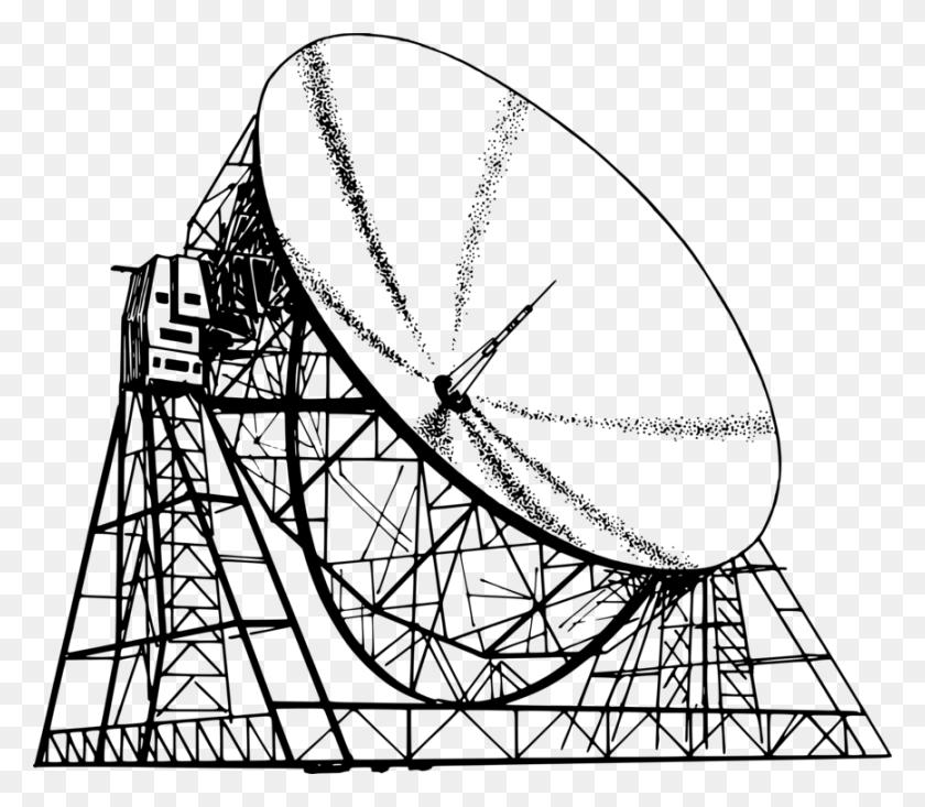 Radio Telescope Drawing Radio Telescope Line Art - Radio Clipart Black And White