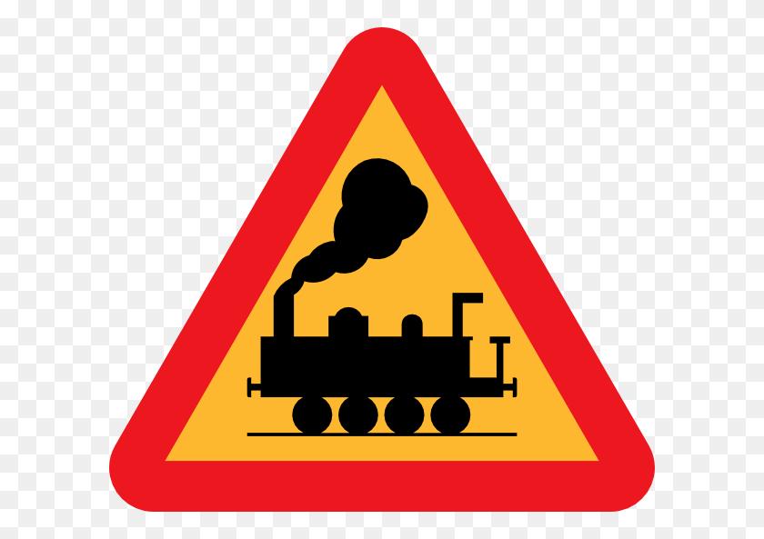 Railroad Tracks Clipart Clip Art - Sign Clipart