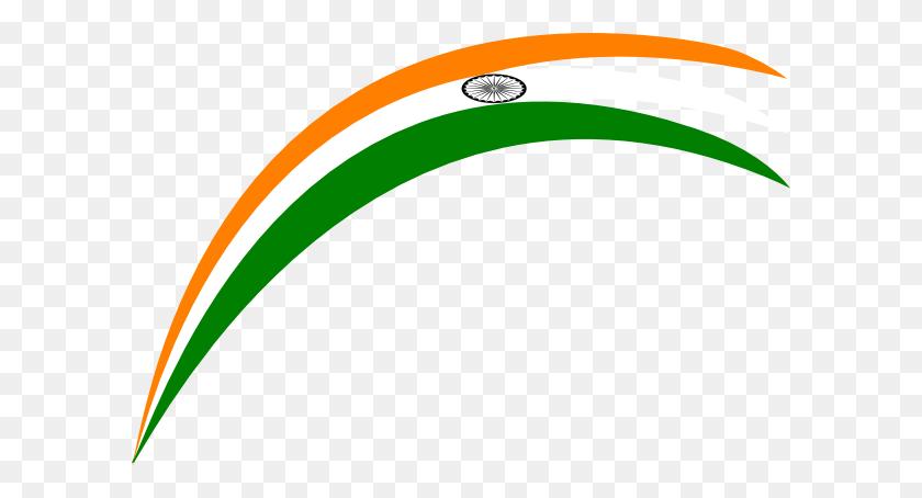 Rainbow Indian Flag Clip Art - Indian Flag Clipart