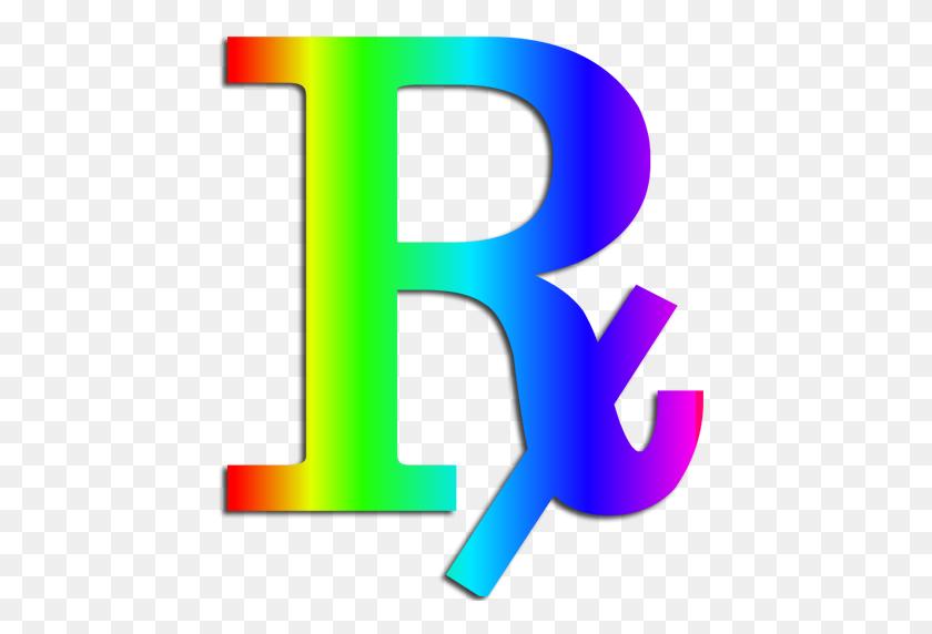 512x512 Rainbow Rx Clipart Image - Rx Clipart