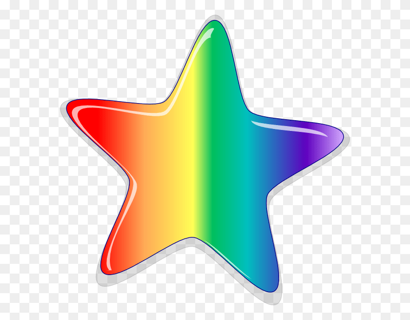 Rainbow Star Cluster Clip Art - Star Cluster Clipart