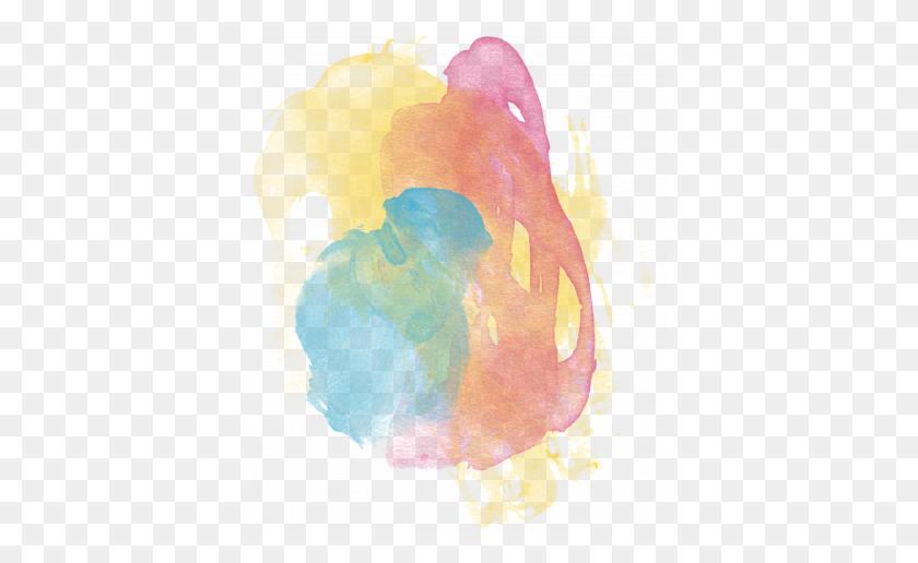 Raindrops Rainbows - Paint Brush Stroke PNG