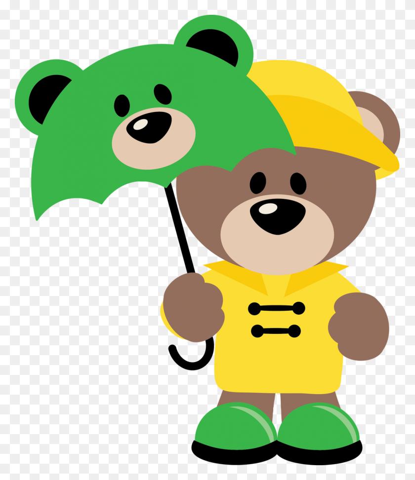 Rainy Day Teddy Bear Clip Art Fofucha Plana Osos - Oso Clipart