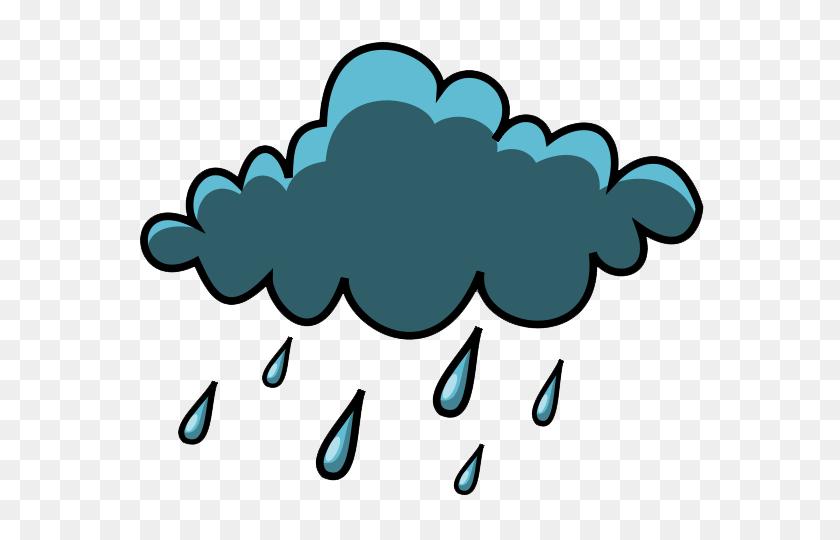 Rainy Weather Clip Art - Umbrella With Rain Clipart