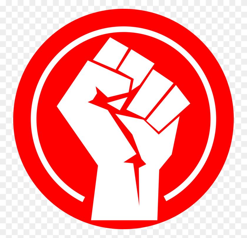 Raised Fist Russian Revolution Symbol Logo - Revolution Clipart