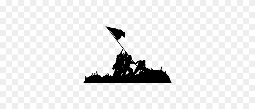 Raising Flag On Iwo Jima Sticker - Playboy Bunny Clipart