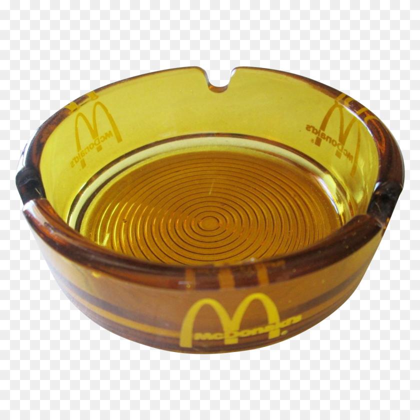 1251x1251 Rare Mcdonalds Amber Glass Ashtray Vintage Advertising Fast - Ashtray PNG