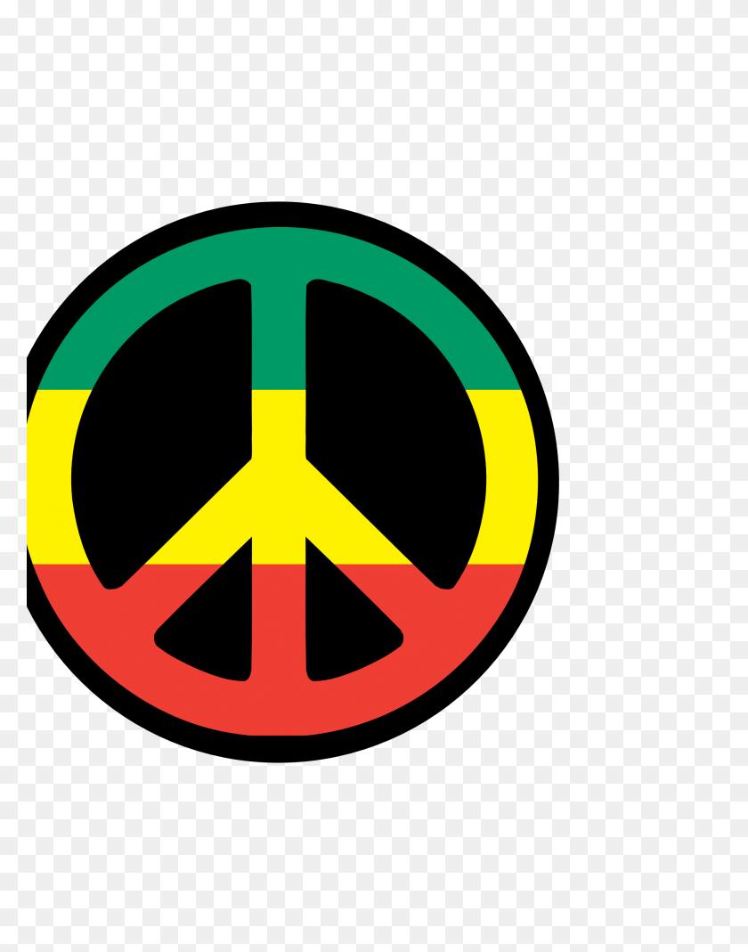 Rasta Peace Symbol Clipart - Rastafarian Clipart