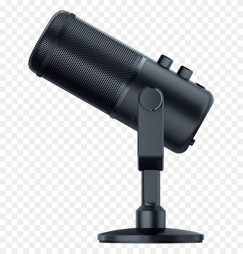 Razer Adds High End Seiren Elite Microphone To Its Broadcaster - Microphone PNG Transparent