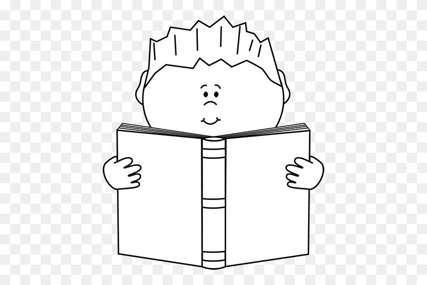 Reading A Book Clip Art Image - Hobo Clipart