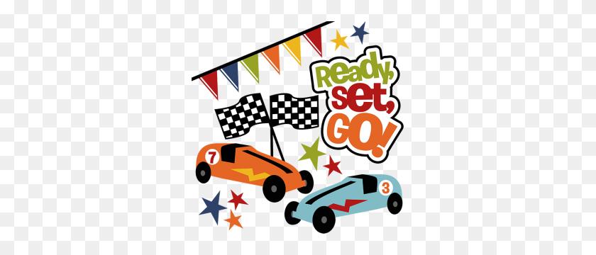 Ready Set Go! Pinewood Derby Car Race Car - Ready Set Go Clipart