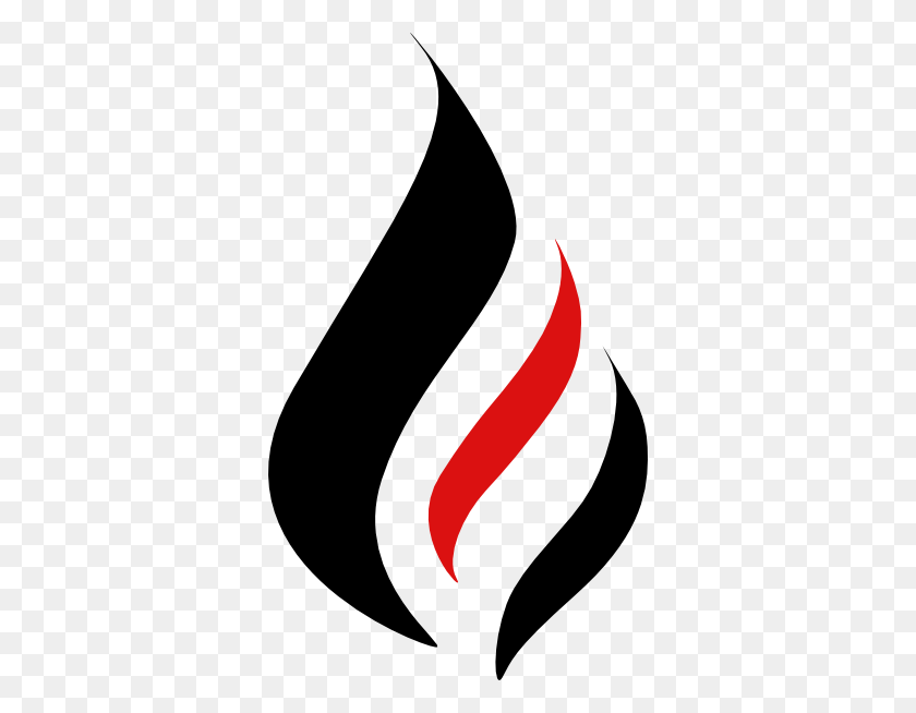 Realistic Fire Flames Clipart - Flames Black And White Clipart