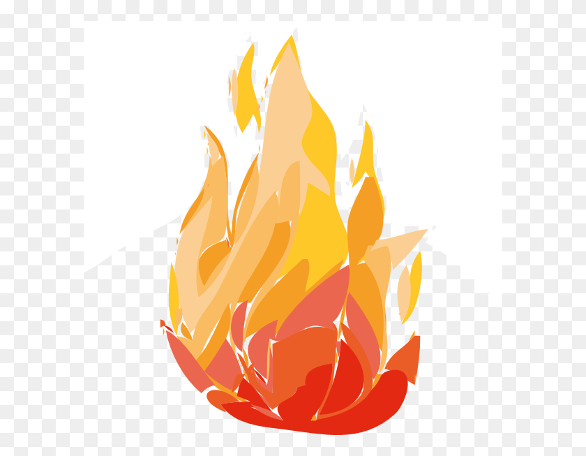 600x593 Realistic Fire Flames Clipart - Free Fire Clipart