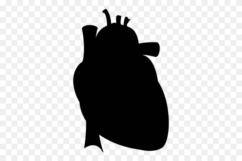 Realistic Heart Silhouette - Heart Silhouette Clip Art