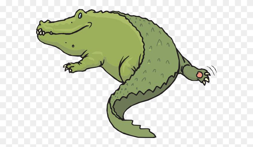 Rear View Of Alligator Clip Art - Cartoon Alligator Clipart
