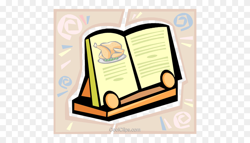 Recipe Book Royalty Free Vector Clip Art Illustration - Recipe Book Clipart