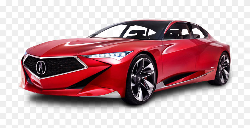 Red Acura Precision Car Png Image - Red Car PNG