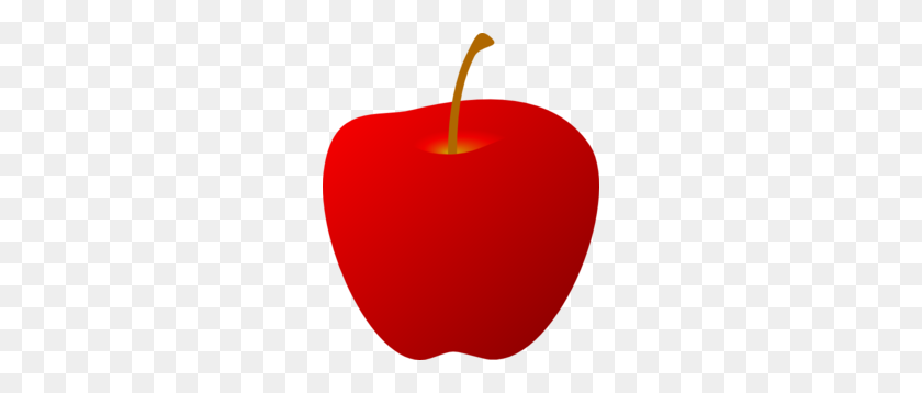 Red Apple Without Leaf Clip Art - No Food Clipart