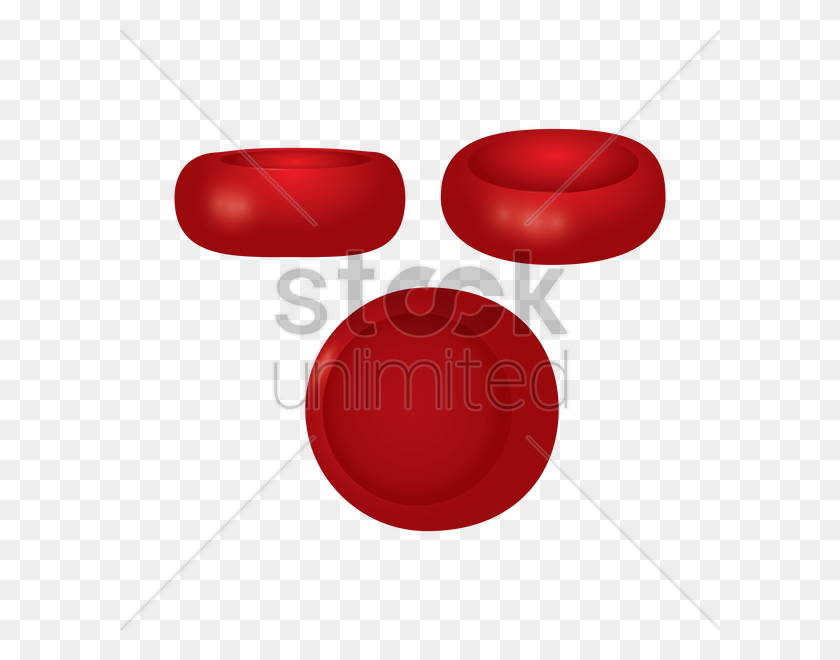 Red Blood Cells Vector Image - Red Blood Cell Clipart