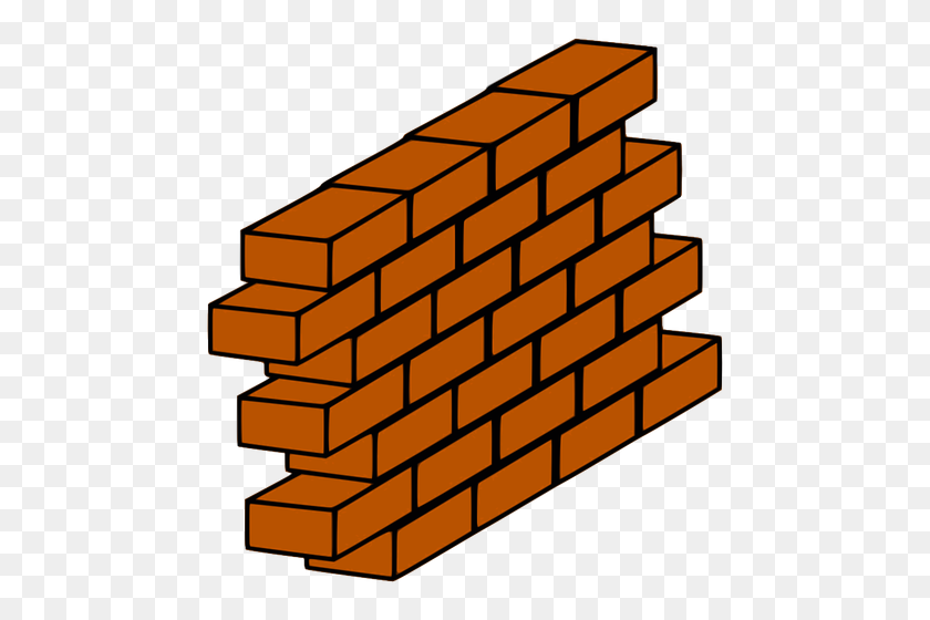 Red Brick Wall With Bricks Sticking Out Vector Clip Art Public - Brick Wall Clipart Black And White