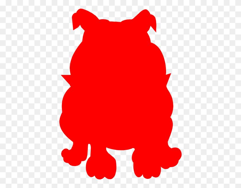 Red Bulldog Clip Art - Bulldog Clipart