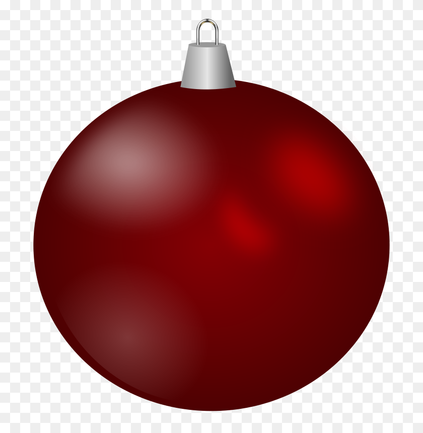 744x800 Red Christmas Ball Clipart Balls Free Download Clip Art - Cake Pops Clipart