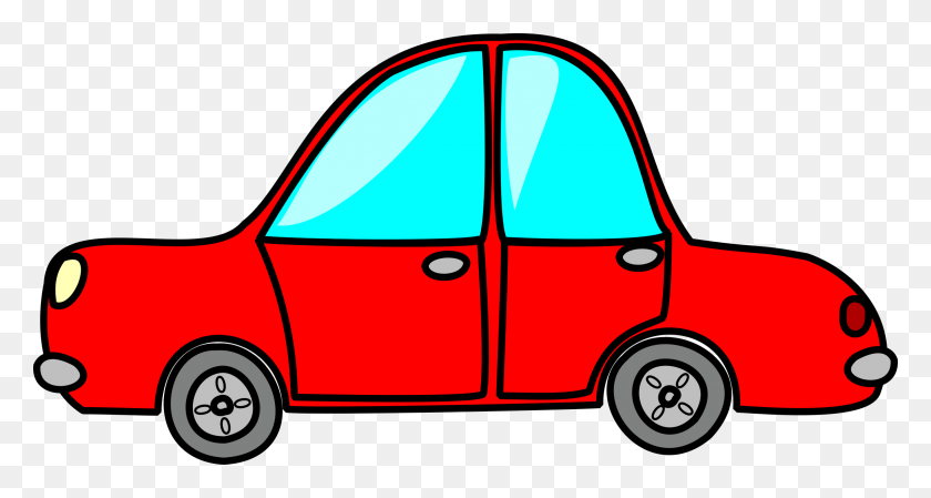 2400x1198 Red Clipart Toy Car - Free Classic Car Clipart