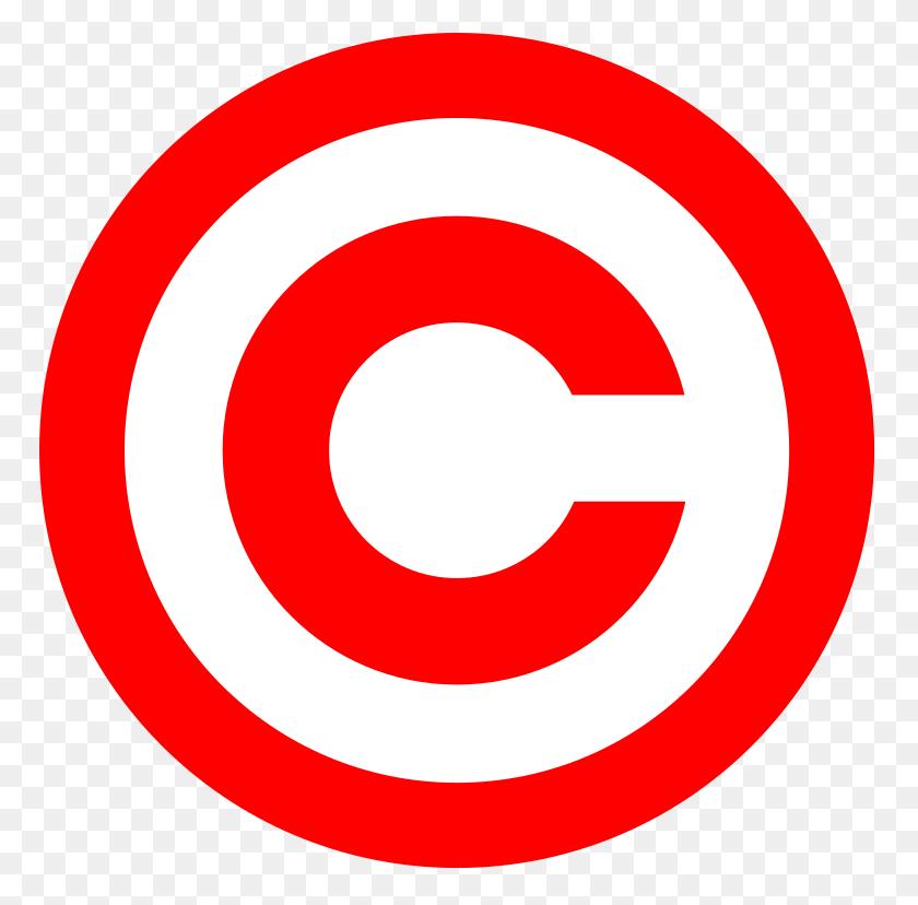 Red Copyright - Copyright Logo PNG