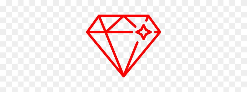 Red Diamond Icon Diamond Icon Png Stunning Free