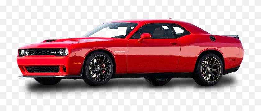 Red Dodge Challenger Car Png Image - Red Car PNG