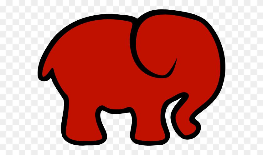 Red Elephant Clip Art - Elephant Face Clipart