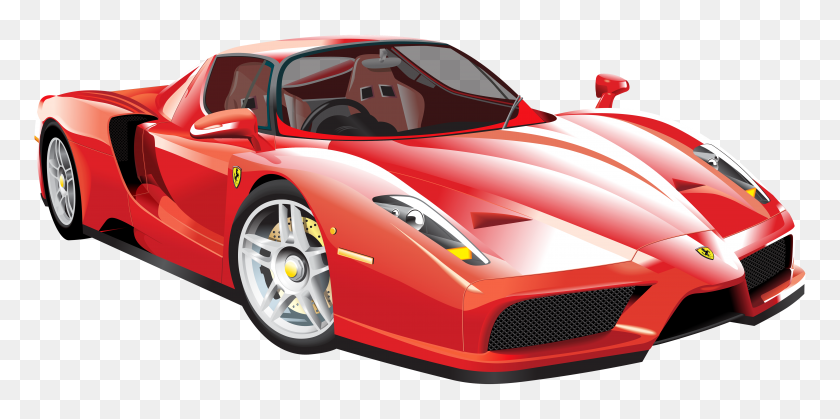 Red Ferrari Car Png Clip Art - Red Car PNG