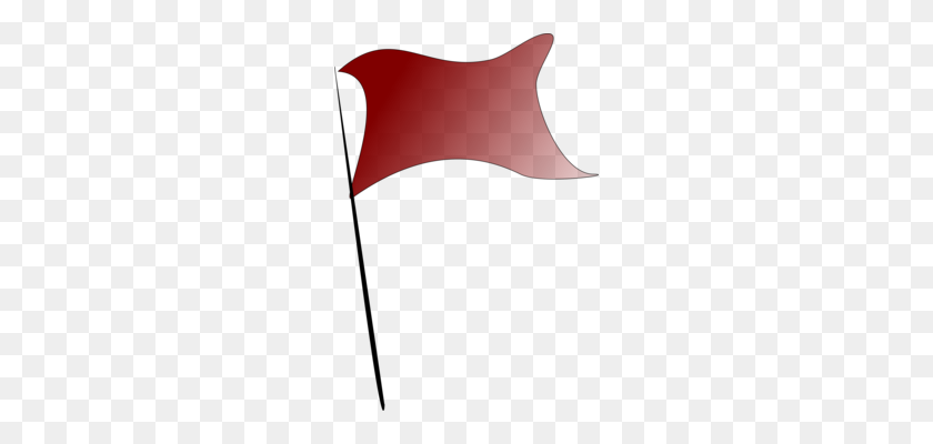 Red Flag Triangle Pennon Banner - Simple Banner Clipart